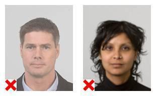Eisen aan de pasfoto voor paspoort of id kaart paspoort en