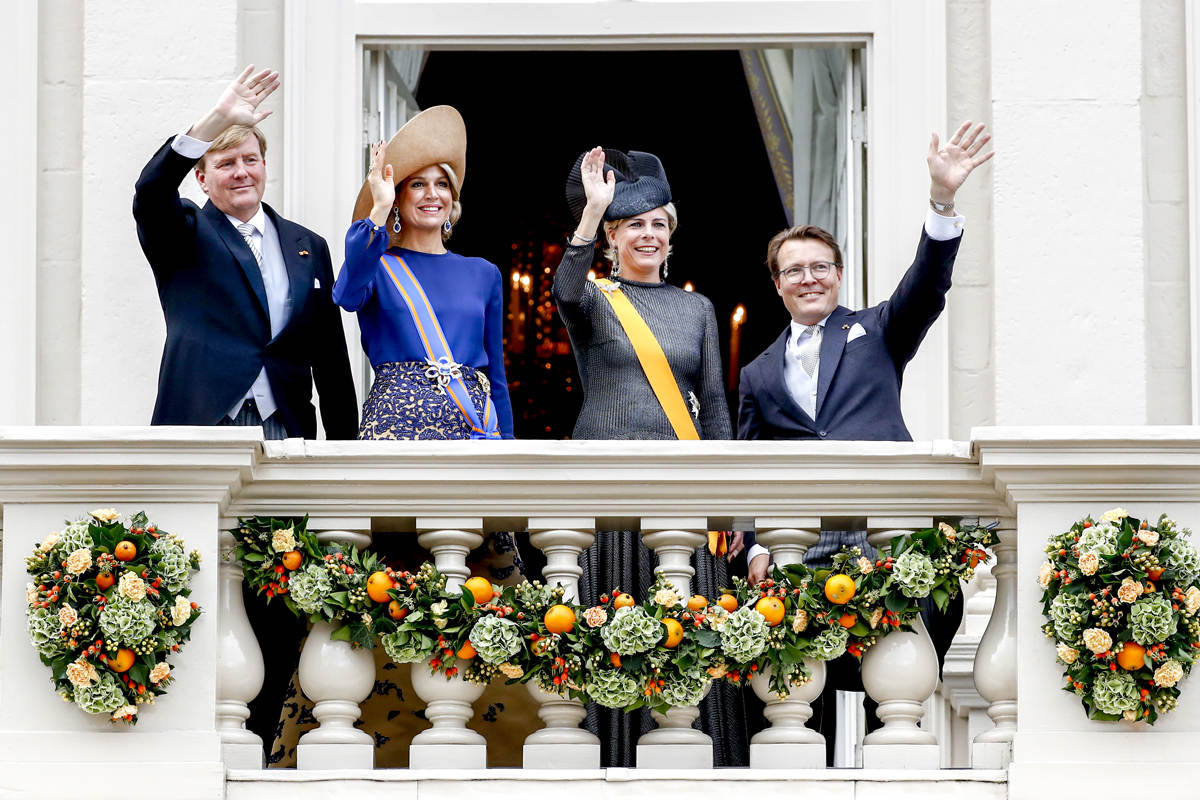 Willem-Alexander, Máxima, Prinses Laurentien and Prince Constantijn