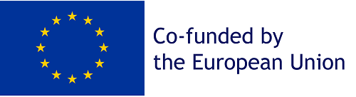 "Logo van de Europese Unie met de tekst: ""Co-funded by the European Union"""