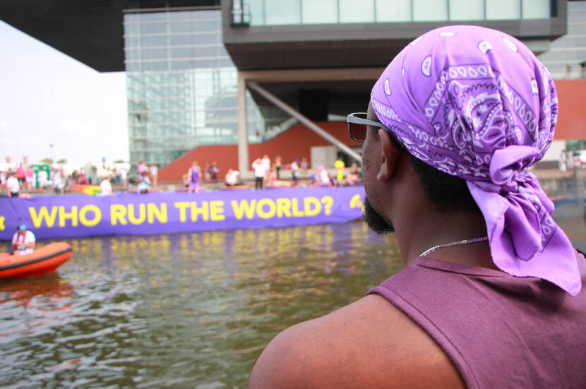 David Igbo selama Pride Amsterdam
