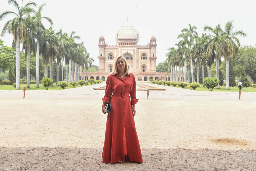 Minister Kaag in India.