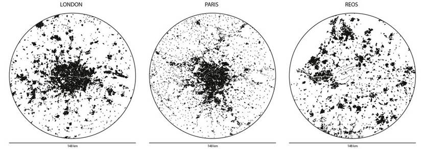 Internationale vergelijking tussen economische kerngebieden van Londen, Parijs en REOS-netwerk