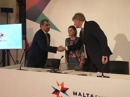 Staatssecretaris Van Rijn samen met de Slowaakse en Maltese bewindslieden