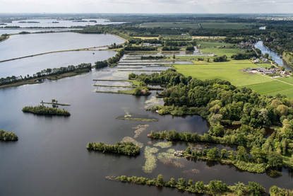Luchtfoto waterlandschap Noord-Holland